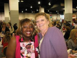 With Naleighna Kai, an author I met last year. Sweet lady.