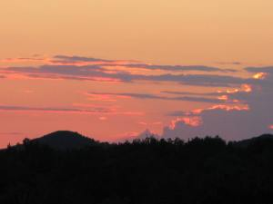 Beautiful sunsets from our deck.