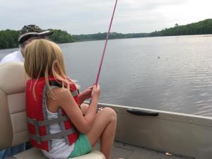 Fishing. Unfortunately we got skunked.
