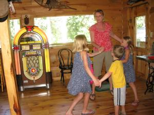 Dancing with my grandkids.