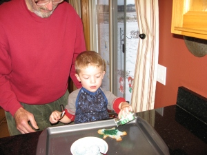 Uncle Ed needed to be a little more hands-on. Yikes, that's a lot of sugar!