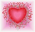 flower-heart-shape-valentine-card-design-element-37283156