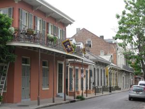 There is a French Quarter law that says every house on a block has to be a different color.