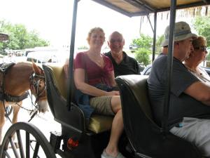 We took a carriage ride.