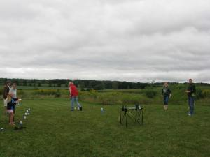Friendly game of Kubb.