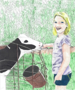 Uncle Bill's Farm Alli and Calf redone again