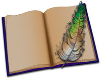 book-feather-white-background-42062995
