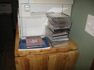 Some of the Christmas CDs.