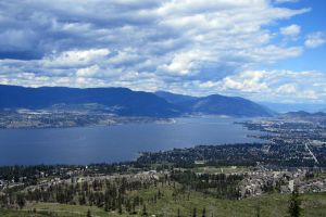 Lake Okanagan from Kelowna Mountain
