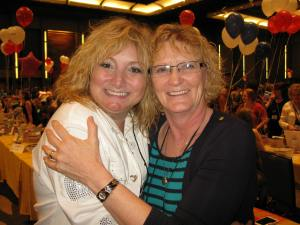 Tina DeSalvo and I met at the Barbara Vey Luncheon in April. We decided the Tina's needed to unite.