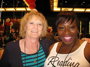 I met Renee Daniel Flagler at a workshop she and Lutishia Lovely ran about writing under two names. They were funny and informative. I bought their books at the booksigning.