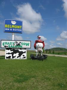 Our biking started in Belmont, Wisconsin. This is their welcome sign.