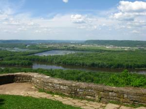 Wyalusing State Park is located where the Wisconsin and Mississippi Rivers meet.