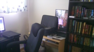 Another view of Steve's creative corner.