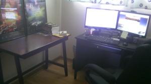 Steve's writing space